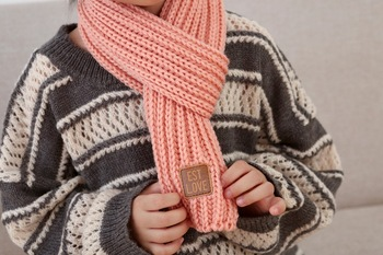 Est. with Love Kids Scarf – Pink