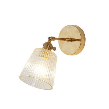 nordic creative copper led wall lamp lighting modern palm glass wall lamp restaurant will bring you furniture wall lamp lighting Glass Wall Lamp Modern Transparent Wall Sconce Lighting Nordic wall lamp Copper Wall Light Clear Lampshade Retro For Bedroom