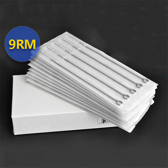 Tattoo Supplies 50pcs/Box 9RM Premade Disposable Sterilized Tattoo Needles For Tattoo Gun Machine Grip Tube Kit Sets