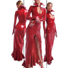 Sexy Latex Rubber Dresses Full Sleeve Fashion Dress For Party Wear Gummi 0.4mm