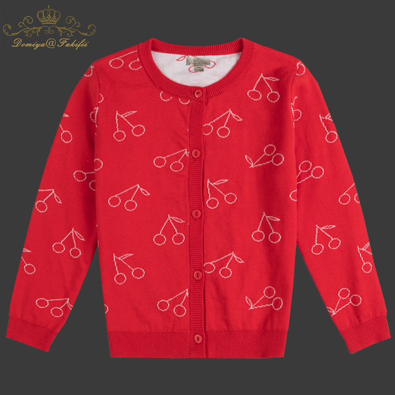 2018 Brand Fashion Baby Children Clothing Boys Girls Red Berry Knitted Cardigan Sweater Kids Spring Autumn Cotton Outer Wear t100 children sweater winter wool girl child cartoon thick knitted girls cardigan warm sweater long sleeve toddler cardigan