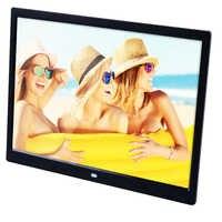 Marco de fotos Digital HD de 15 pulgadas, TFT-LCD, 1280x800, reloj de álbum de fotos, MP3, MP4, reproductor de anuncios de películas con escritorio remoto