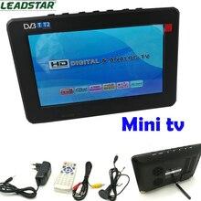 Venta de la fábrica HD TV 7 Pulgadas de TV Digital Y Analógica de Televisión receptor de la Tarjeta DEL TF Y USB de Audio Y Reproducción de Vídeo Portátil DVB-T2