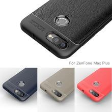 Phone Case For Asus ZenFone Max Plus M1 Case Carbon Fiber Silicone Cover For ASUS ZenFone Max Plus M1 ZB570TL X018D Coque Etui