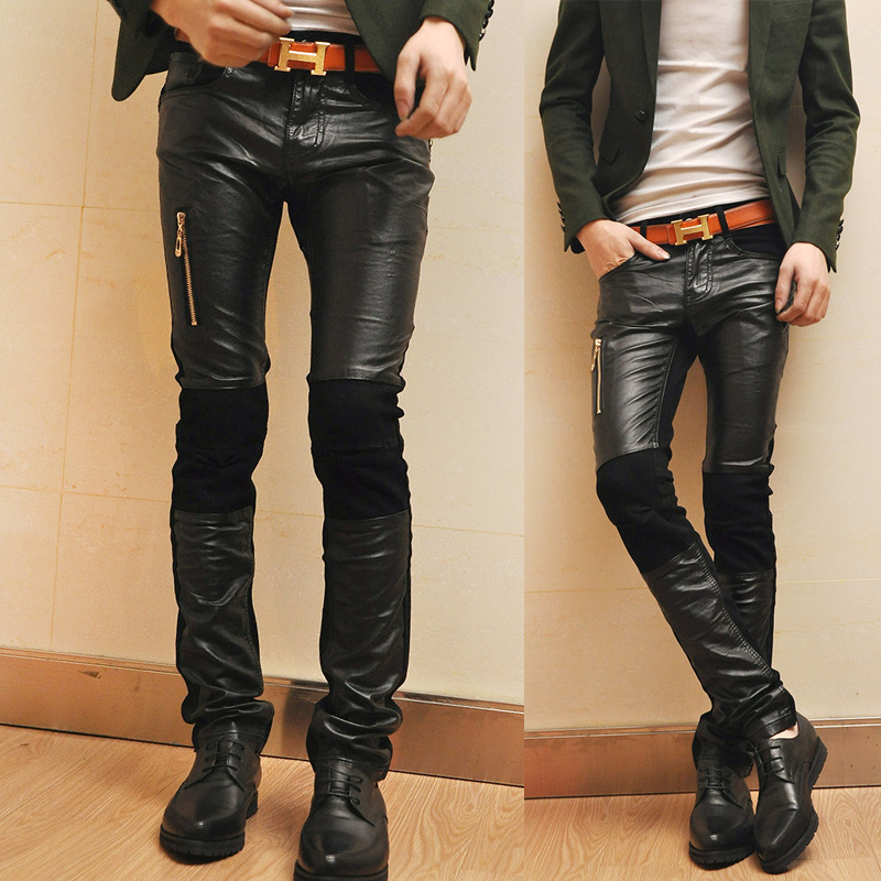 Compare Prices on Leather Jeans Men Skinny- Online Shopping/Buy