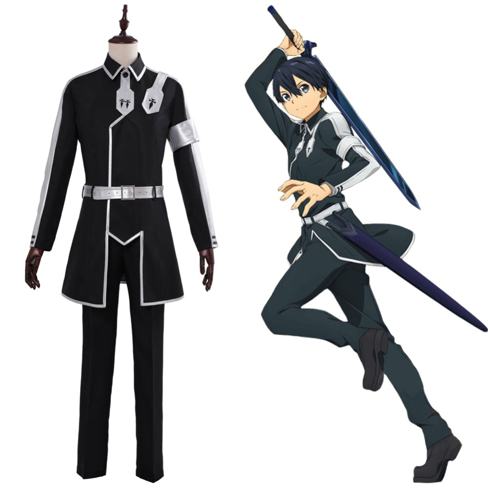 Sword Art Online Cosplay Alicization Kirigaya Kazuto Costume Uniform Suit Men Women Halloween SAO Kirito Costumes Custom Made
