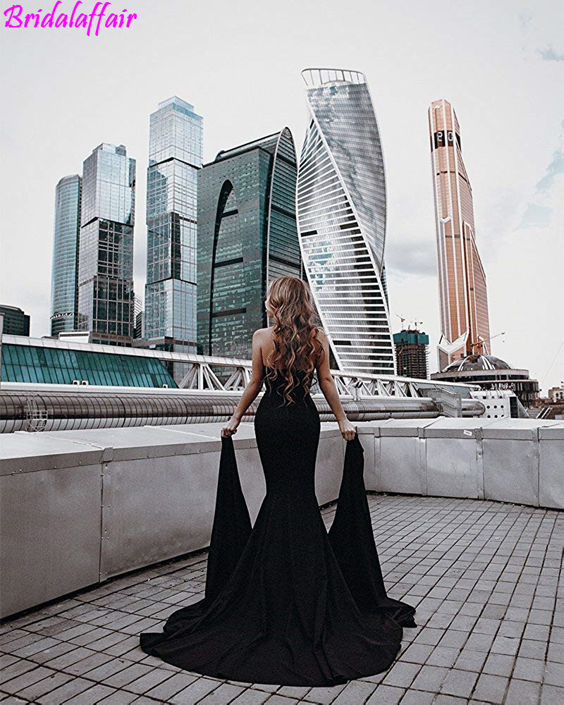 Womens material Long Prom Dresses 2019 Strapless Asymmetric Slit Front Evening Dress party formal dress vestidos de fiesta in Prom Dresses from Weddings Events