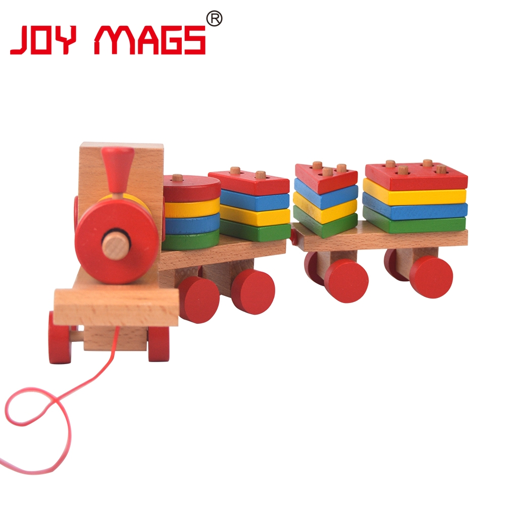 Plan Toys Train Joys : Joy mags toy stacking train wooden peg