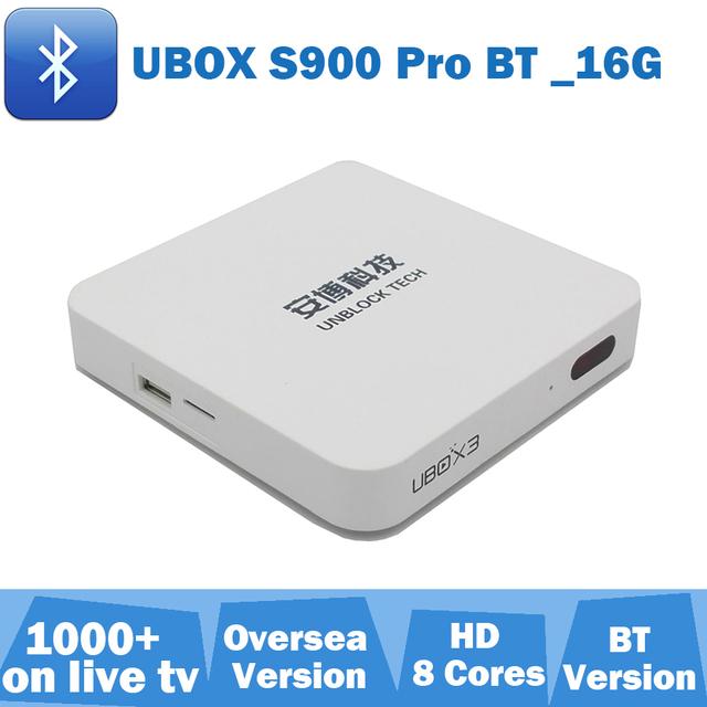 Desbloquear caja iptv TV BOX Ubox 3 S900 Pro Versión de Bluetooth para Japón Corea Malayo SG Tailandia Australia NUEVA ZELANDA IDENTIFICACIÓN Vietnam UK