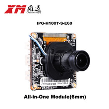 XM original network camera module assembly 1.0M Hi3518EV200+H42 IP All-in-One Module 6mm