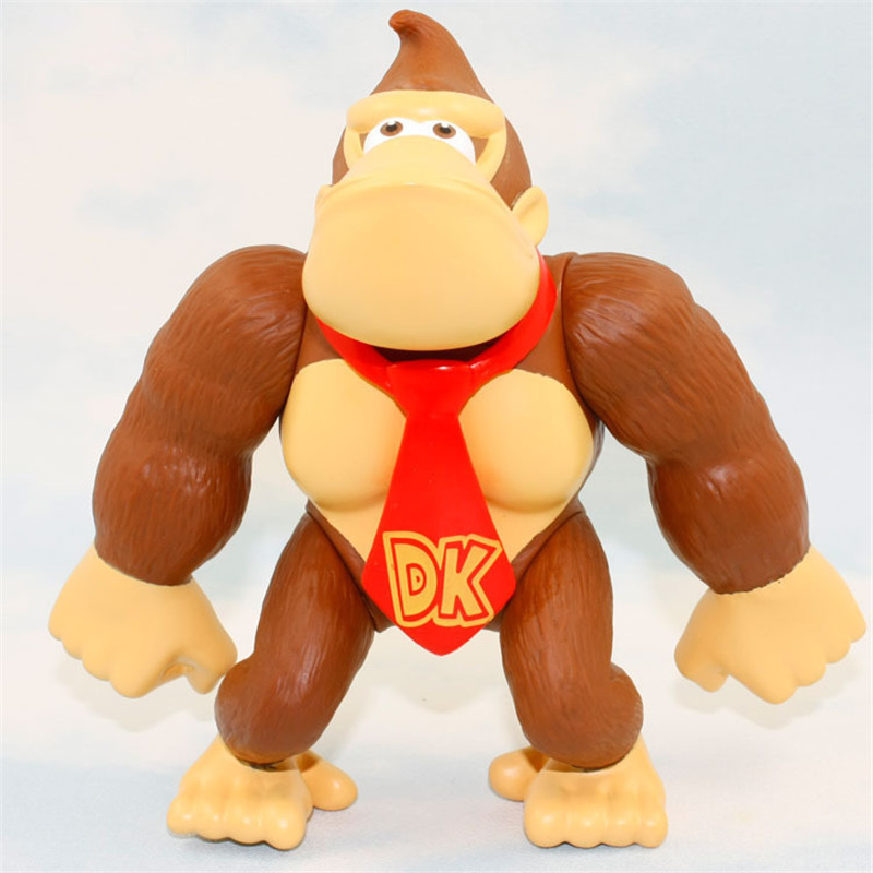 6 15cm Donkey Kong Action Figures Super Mario Bros Figures Collectible Model Doll font b Toys