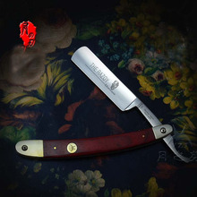 New Japan Steel Straight Razor For Men Classic Barber Razors Red Ebony Wood Handle Folding Knife Navalha De Barbeiro