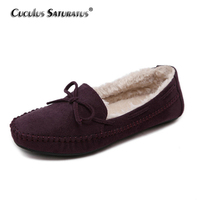 Cuculus Winter Loafers Women Shoes Woman Leather Moccasins Boat Flats Fashion Casual Home Shoes B912 1