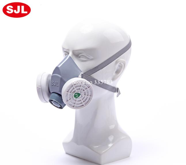 Brand New Design Gas Mask Anti Dust Paint Respirator Chemical Gas Protection Filter Face Mask Spray Paint Pesticide mask 37502respirator face gas mask painted activated carbon dust tight smoke proof chemical pesticide formaldehyde dust mask