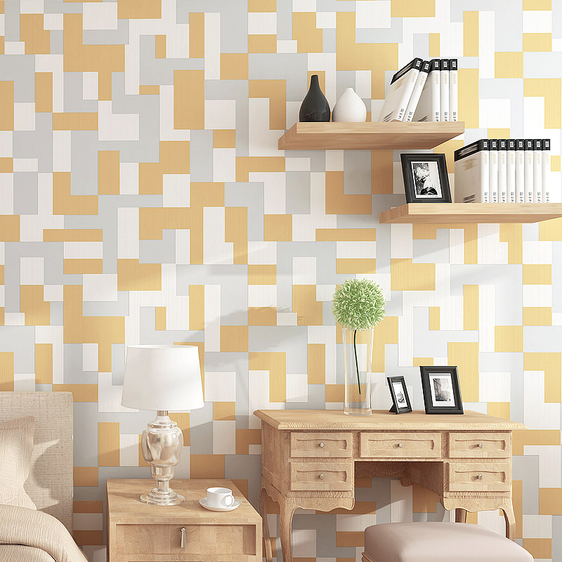 Modern Simple Style 3D Non-woven Mosaics Pattern Wallpaper Rolls For Wall Living Room Bedroom TV Sofa Background Wall Home Decor
