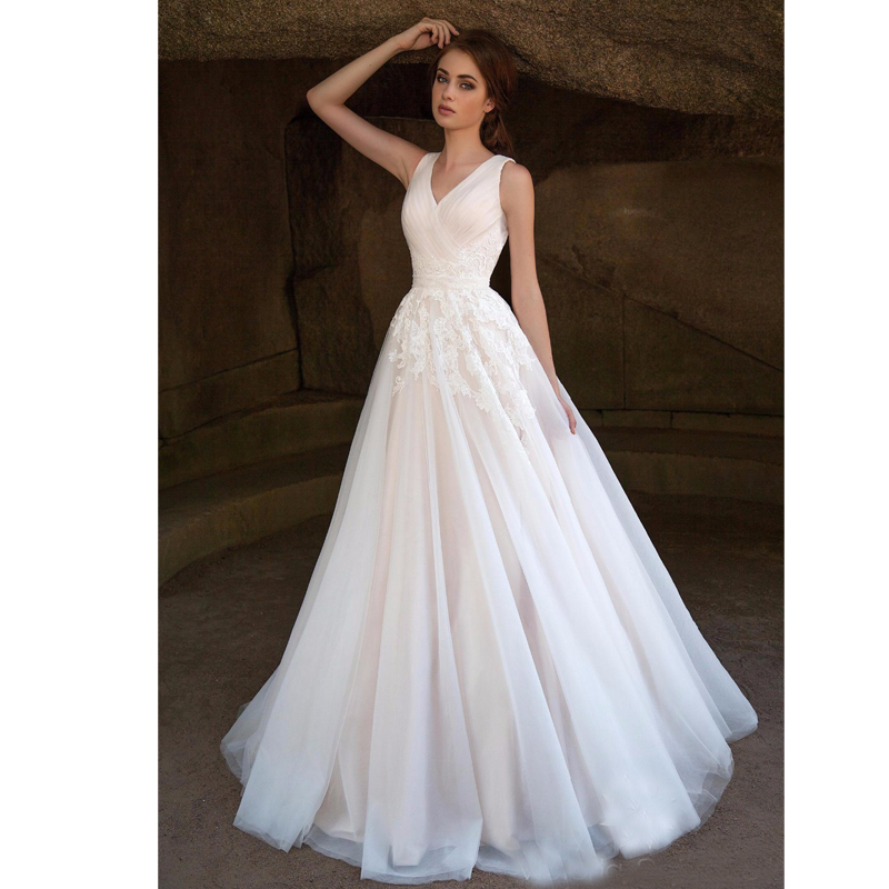 2017 lovely organza a line lace wedding dresses wide strap for Wedding dresses with lace up back