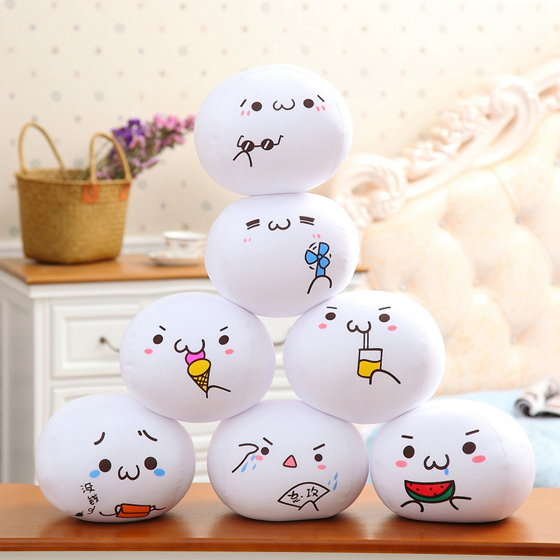1pcs 10cm/20cm Creative Funny Expression Pillow Yan Text Bubble White Foam Particles Pillow Plush Toy Waist Cushion Pillow
