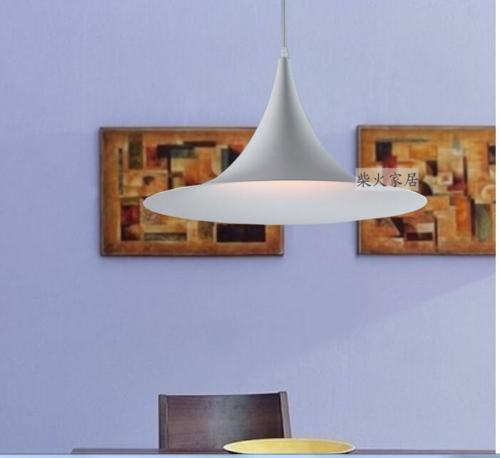 Столовая подвесные светильники 2 шт. D48CM персонализированные модные белый/черный алюминиевые подвесные светильники свет лампы освещения ис