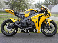Лидер продаж, дешевые ABS обтекателя комплект для Honda CBR1000RR 08 09 10 11 Fireblade 2008 2011 желтый и черный Обтекатели (впрыска литье)