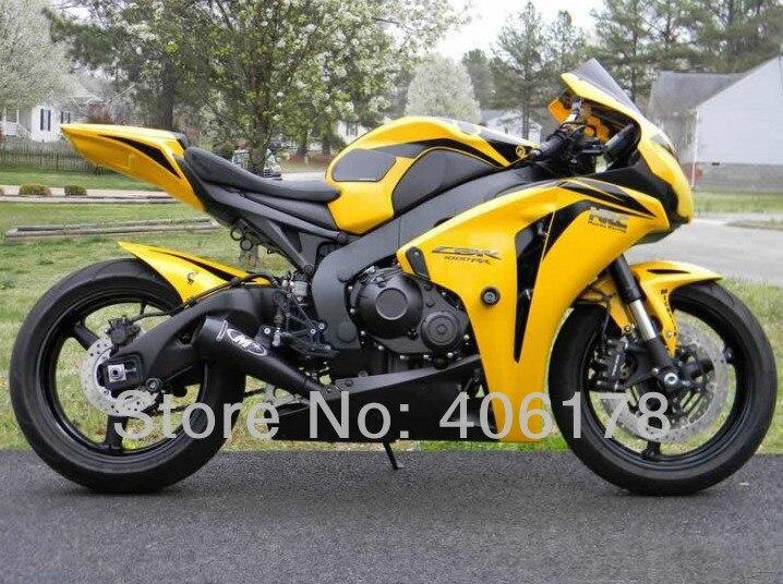 Offres spéciales, kit de carénage ABS pas cher pour Honda CBR1000RR 08 09 10 11 Fireblade 2008-2011 carénages jaunes et noirs (moulage par Injection)