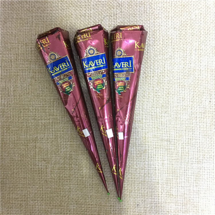 Henna Tattoo Color Brown: 6pcs Natural Brown Indian Henna Tattoo Paste Cones,Mehndi