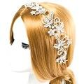 CZ Diamante Tiaras E Coroas de Noiva Enfeites de Cabelo Para Casamentos Cristais Pérolas Acessórios de Cabelo Da Testa Jóias Mulheres Diadema