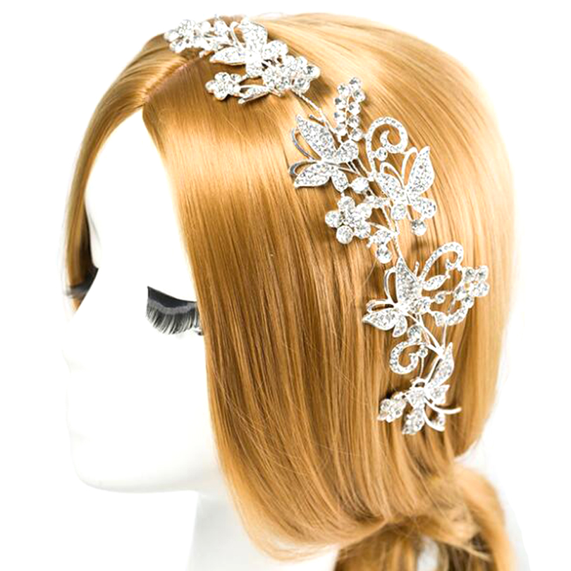 CZ Diamond Tiaras And Crowns Bridal Hair Ornaments For