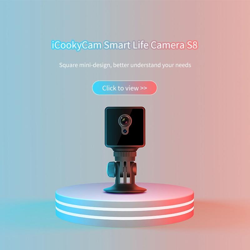 S8 WiFi Mini caméra Vision nocturne 1080 P capteur Portable caméscope de sécurité petite caméra secrète espia caméras Support caché TF carte