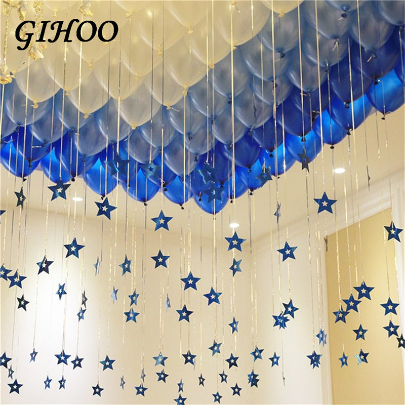 30pcs 12inch Dark Light Blue and White Balloons Birthday Party Balloons Romantic Decorations Wedding Valentine's Party Supplies