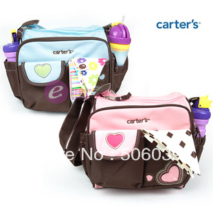 free shipping Mother bag mummy bags eco-friendly embroidered heart Small nappy bag tape adjustable length