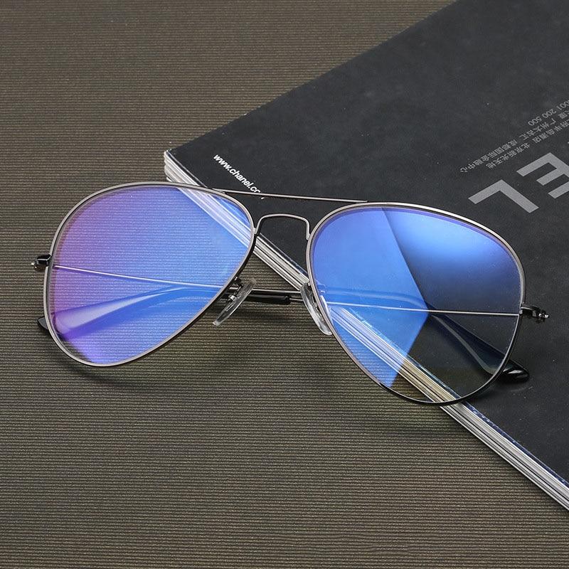 Aviation Computer Glasses Men Women Anti Blue Light Radiation Eyeglass Anti Ray Coationg Tint Lens Pilot Goggles for Computer