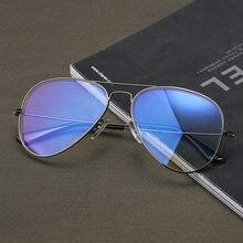 c64a36edb الطيران الكمبيوتر نظارات الرجال النساء مكافحة الأزرق ضوء الإشعاع النظارات  المضادة راي كواتيونغ تينت عدسة الطيار نظارات للكمبيوتر