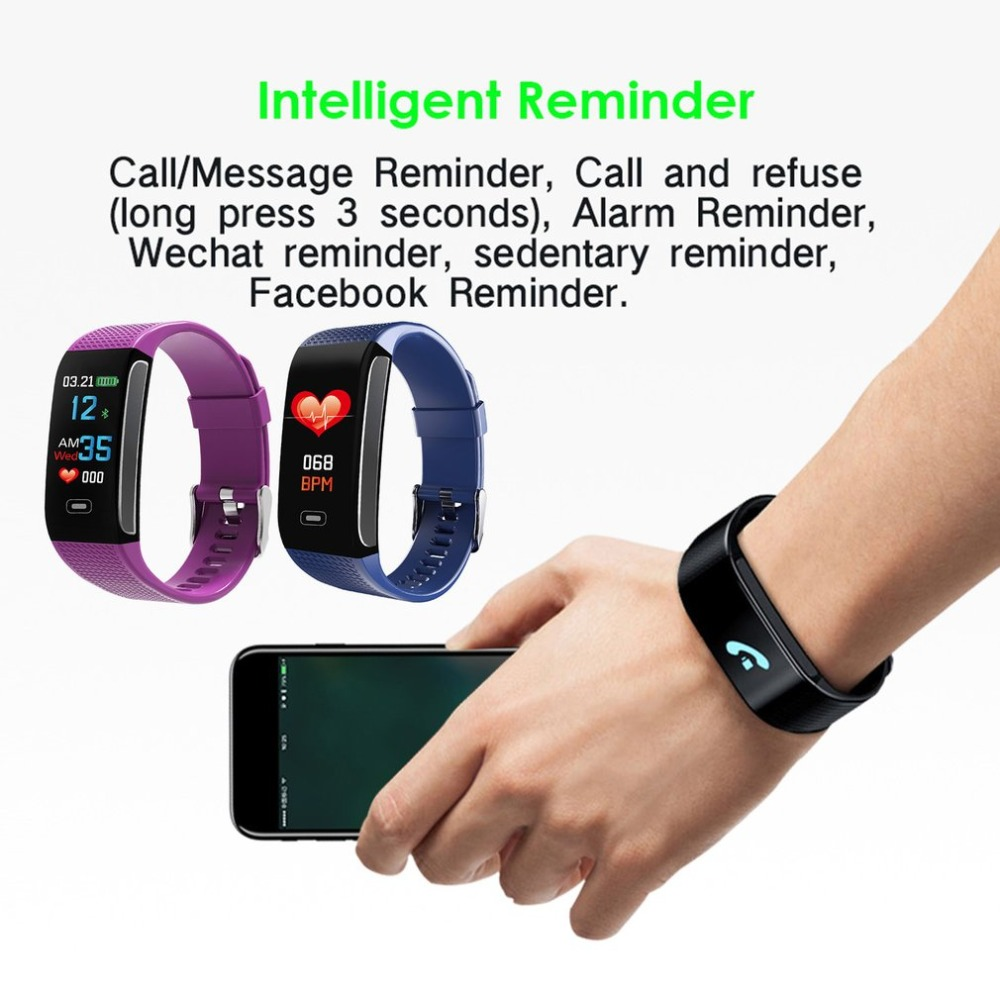 CK18S Smart Watch Color Screen Blood Pressure Heart Rate Monitor Remote Camera IP67 Waterproof Bluetooth Sports Watch
