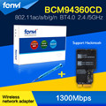 "Fenvi broadcom gigabit wi-fi sem fio bluetooth-ac bcm94360cd 802.11ac mini-pci-e wi-fi bt 4.0 wlan para apple 2013 21.5 ""/27"" imac"
