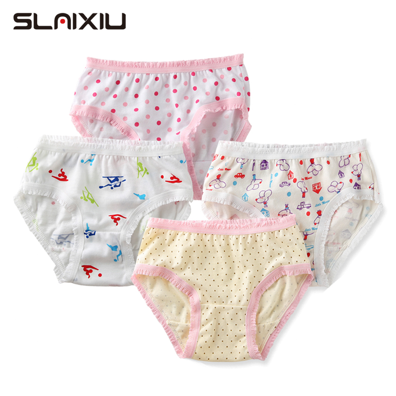 2pcs Kids Girls Panties Baby Girl Briefs Cotton Floral Shorts Underwear For 0-11Y Children's Underpants Random Colors Send