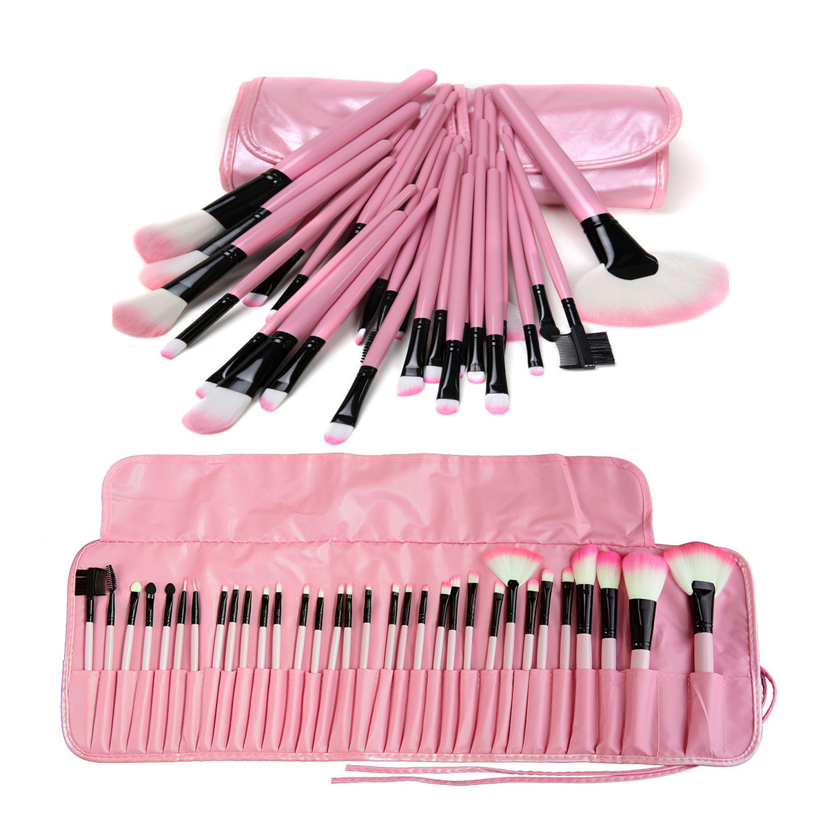 Pro 32Pcs Makeup Brushes Set for Women Fashion Soft Face Lip Eyebrow Shadow Cosmetic Make Up Brush Set Kit with Pouch Bag free shipping durable 32pcs soft makeup brushes professional cosmetic make up brush set
