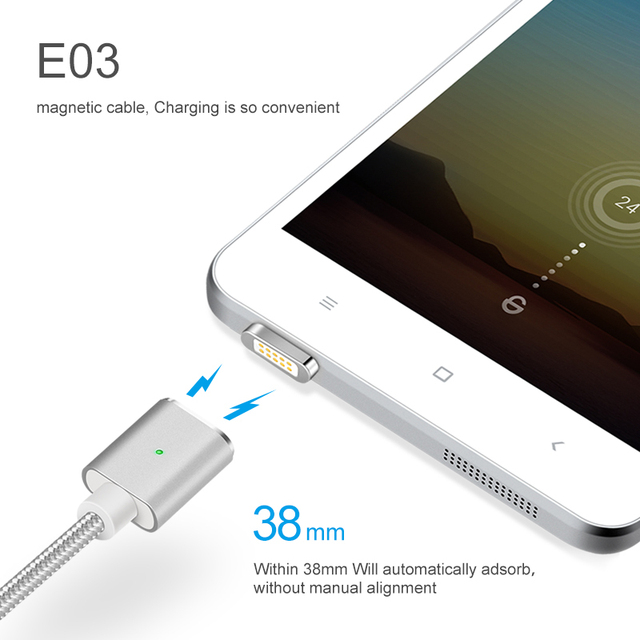 Elough E03 Magnetico Cavo del Caricatore Micro USB Per Xiaomi Huawei Android Del Telefono Mobile di Ricarica Veloce Magnete Microusb Cavo Dati Cavo 5