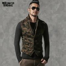 Men cotton thicken casual high quality vest Men camouflage slim new design vests Mens brand Sleeveless jacket Waistcoats Winter