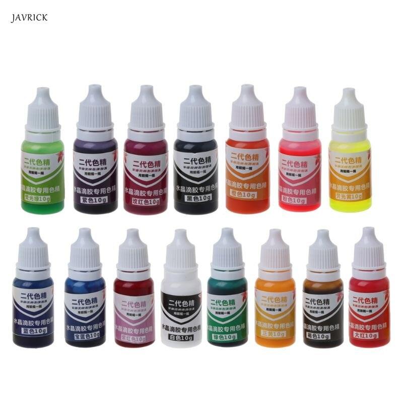 10 ml 15 Farbe Epoxy UV Harz Farbstoff Schmuck Flüssigkeit Pigment Bad Bombe Seife Farbstoff