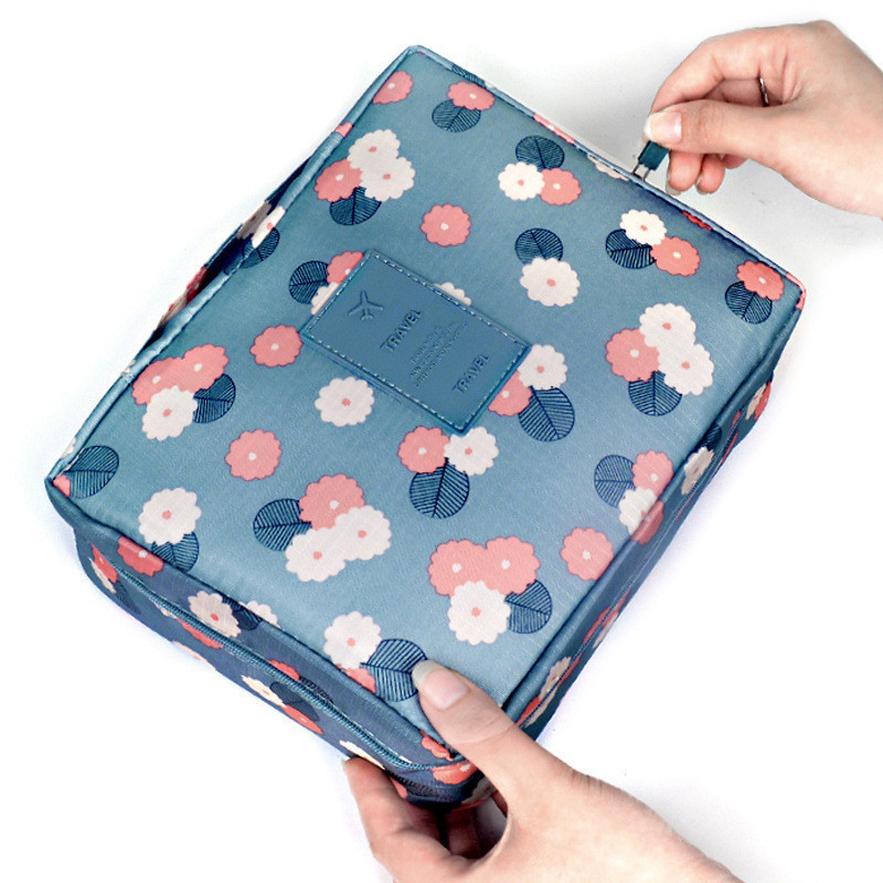 Image 5 - Fashion Travel Nylon Beauty Makeup Bags Water proof Cosmetics Bags Bathroom Organizer Of Women Portable Bath Hook Washing Up Bag-in Storage Bags from Home & Garden