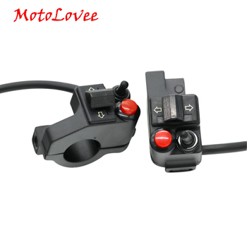 Motolovee Motorcycle Modified Handlebar Multi-function Headlight Switch Steering Switch Horn Double Flash alps rkjxw1014002 multi function eight direction switch press switch encoder