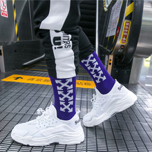 Words Pattern Harajuku Happy Socks Men's Funny Combed Cotton Dress Casual Socks Colorful Novelty Skateboard Socks for Men casual colorful men s crew party socks crazy cotton happy funny skateboard socks novelty male dress wedding socks gifts for men