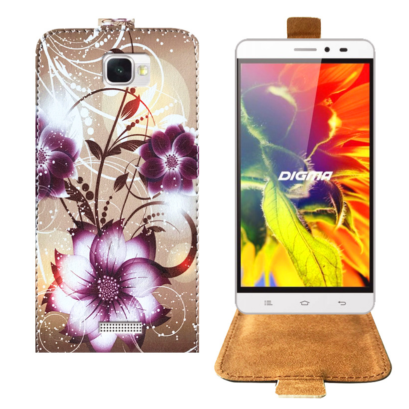 Top Selling Cartoon Painting Factory Price PU Leather Flip Case For Digma VOX S505 3G Case Back Cover 5.0 Protective