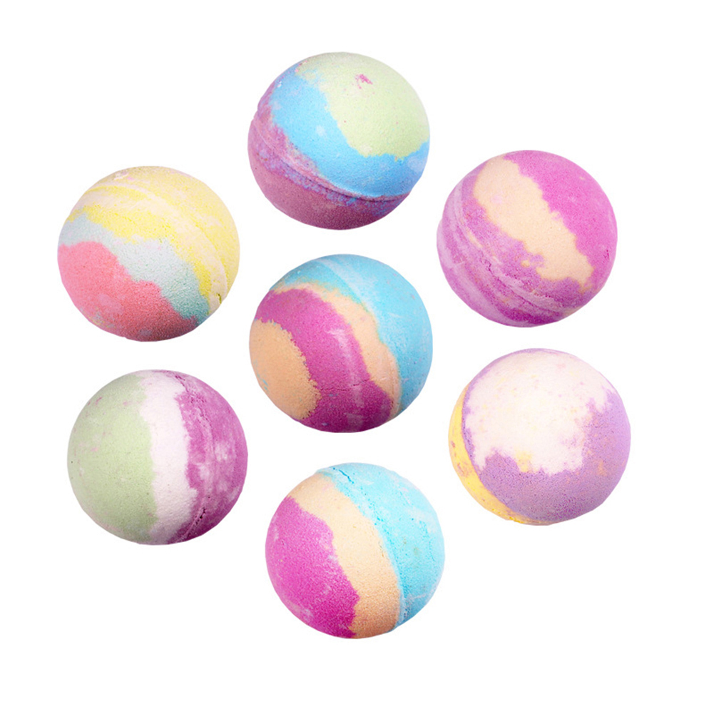 12pcs Natural Spa Essential Handmade Oil Moisturizing Skin Care Props Stress Relief Exfoliating Salts Bombs Bubble Bath Ball