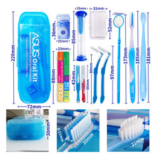 Practical And Effective Interdental Brush Oral Cleaning Tool Dental Floss Orthodontic Care Kit Slim Toothbrush