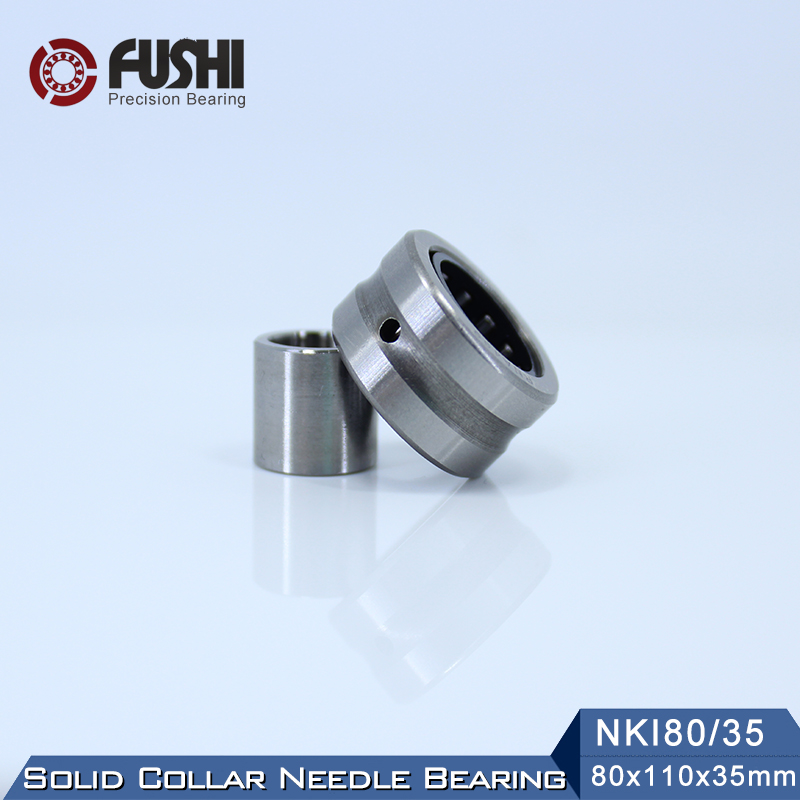 NKI80/35 Bearing 80*110*35 mm ( 1 PC ) Solid Collar Needle Roller Bearings With Inner Ring NKI 80/35 Bearing цена
