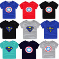 Summer Children T-shirt 2017 Casual Short Sleeved O-neck Boys Superman T-shirt Cute Printing Cotton Kids Tshirt Clothing