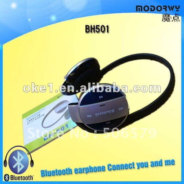 free shipping New Arrival Wireless Stereo Bluetooth Headset BH501 Wireless Bluetooth Headphone With Good Package