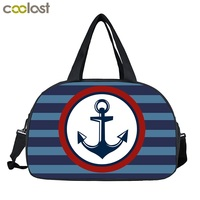 Large Men Women Travel Bags Compass Anchor Carry On Luggage Duffle Bags Valise Weenkend Bag Ladies