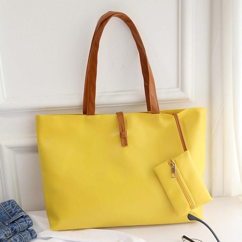 de couro pu tote sacolas Color : Yellow, green, red, orange, black, rose , beige